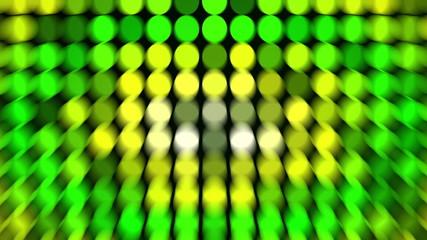 Abstract green flashing circles