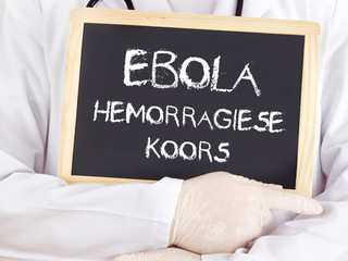 Doctor shows information: Ebola in afrikaans