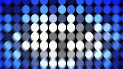 Abstract blue flashing circles