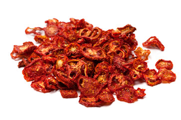 Dried slices of tasty tomato