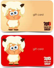 2015. Year of the sheep. Gift cards