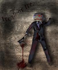 Halloween figure with axe