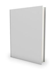 Blank hardcover book template isolated on white