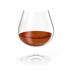 Cognac glass isolated on white background.