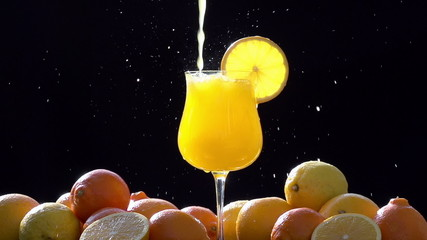Intensively Pouring Orange Juice