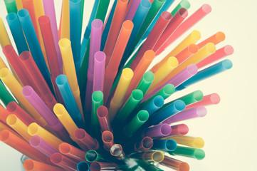 Multi Color flexible straws