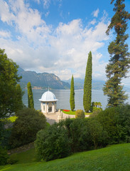 HDR image of the romantic gardens of Villa Melzi, Lake Como