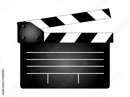 Płyta klapy filmu, wektor producenta filmu