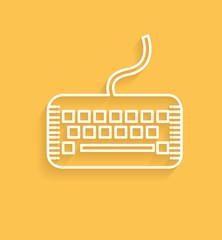 Keyboard symbol,clean vector