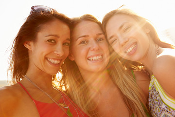 Group Of Female Friends On Summer Holiday Together
