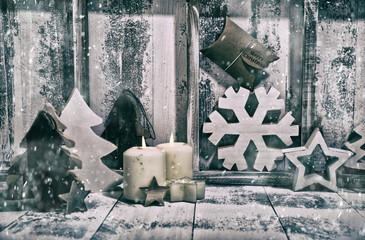 Weihnachtskarte: Weisse Weihnachten