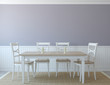 canvas print picture - Dining-room interior.