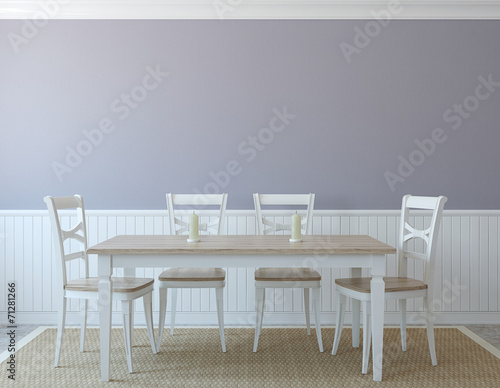 canvas print picture Dining-room interior.