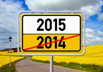 Ortsschild - 2014 - 2015