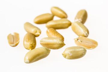 Group of kernel peanuts peeled