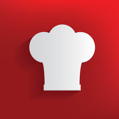 Hat cooking design on red background,clean vector