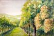 Vineyard,watercolors