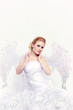 Braut mit Flügeln