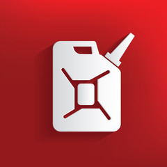 Oil design on red background,clean vector