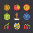 Finance cartoon icons,clean vector
