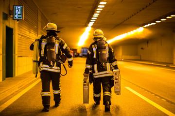 Unfall im Autobahntunnel