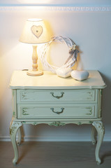 lamp and nightstand