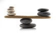 balancing stones on white - 71283266