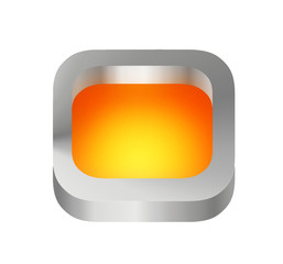 icon orange in metal