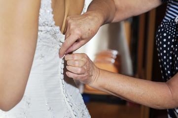 Bride corset tie