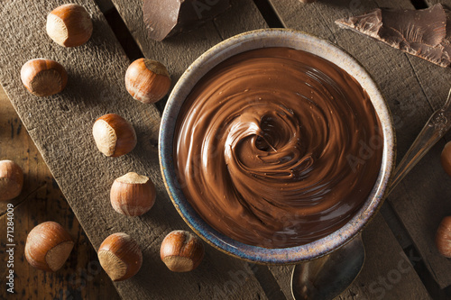 Plexiglas Dessert Homemade Chocolate Hazelnut Spread