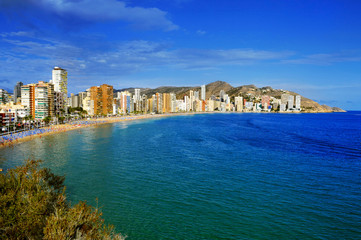Levante Beach, in Benidorm, Spain