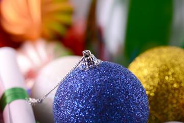 christmas balls set, new year holiday card