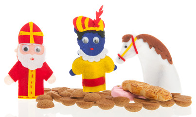 Handmade puppets and gingernuts for Dutch Sinterklaas