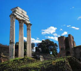 Roman column in area of Forum Romanum
