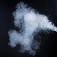 smoke isolated on black
