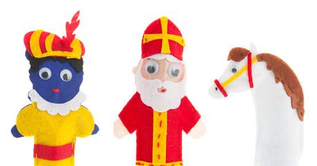 Handmade puppets Dutch Sinterklaas
