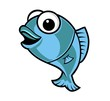 fish cartoon blue