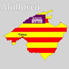 Karte der Insel Mallorca