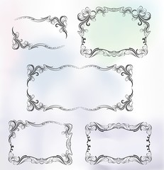 Frame in luxury style