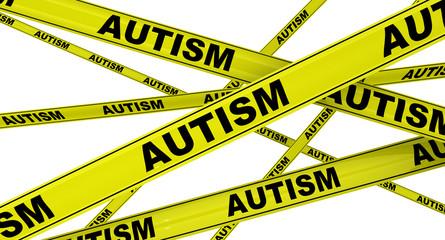 Аутизм (autism). Желтая оградительная лента