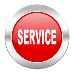 service red circle chrome web icon isolated