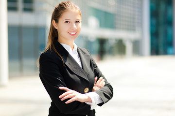 Business woman portrait outdoor