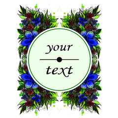 flower label with space for text