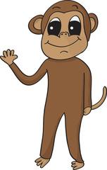 happy waving monkey