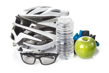 Ciclismo con seguridad y dieta sana estilo de vida saludable
