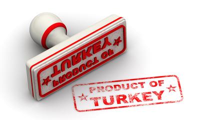 Продукт Турции (product of Turkey). Печать и оттиск