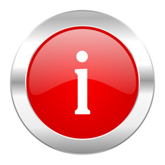 information red circle chrome web icon isolated