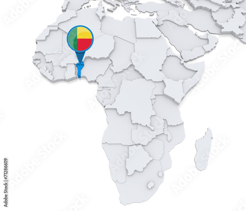 Benin on a map of Africa | Buy Photos | AP Images | DetailView