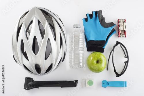 Deurstickers Fietsen Protección y repuestos y herramientas para ciclismo de seguridad