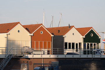 Buildings belonging to the marina of Enkhuizen, Holland.